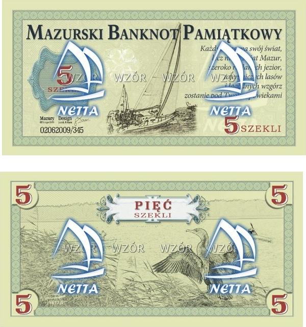 Mazurski banknot pamiątkowy