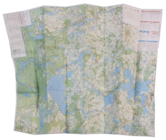Mapa Wielkich Jezior Mazurskich